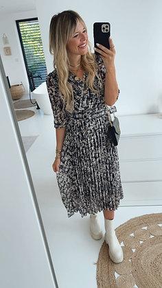 Kleid - schwarz/weiß Muster