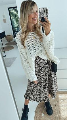 Pullover Grobstrick - weiß