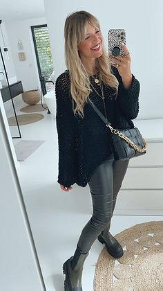Pullover Grobstrick - schwarz