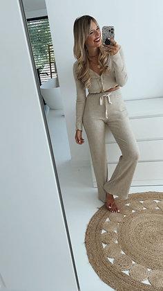 HOMEWEAR SET - Hose beige