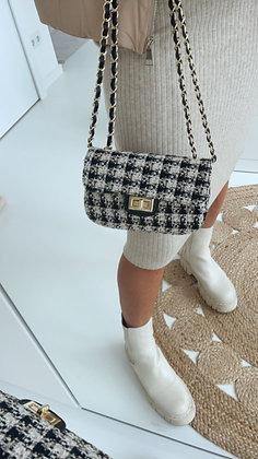 Tasche - schwarz/beige