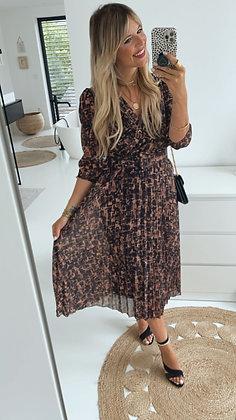 Kleid - braun/schwarz