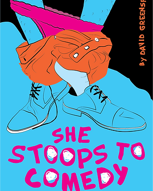 She stoops postcard (front) black.png