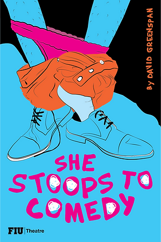 She Stoops to Comedy - Postcard (front)