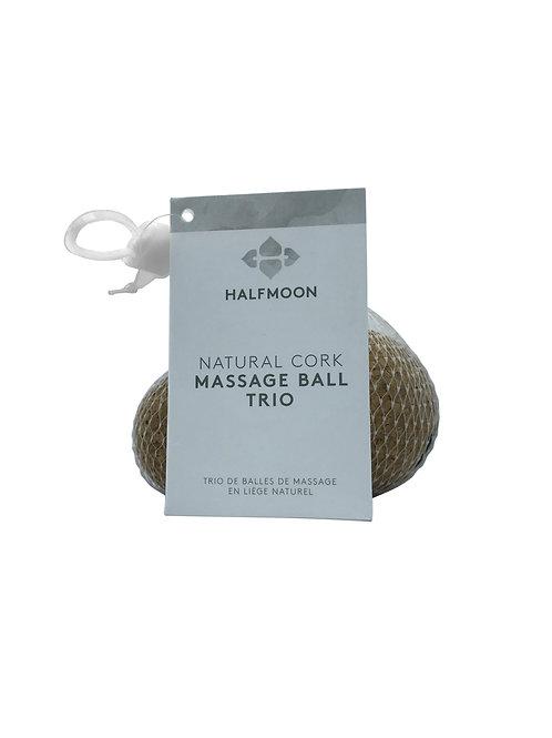Natural Cork Massage Ball Trio