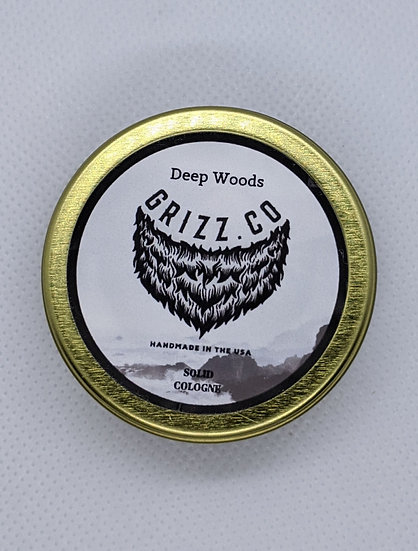 Deep Woods Solid Cologne Tin