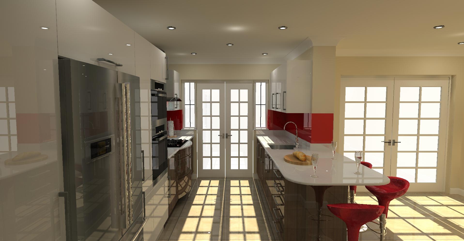 White Gloss Kitchen Worktop Kitchen Design And Visuals Interior Design 3d Visuals