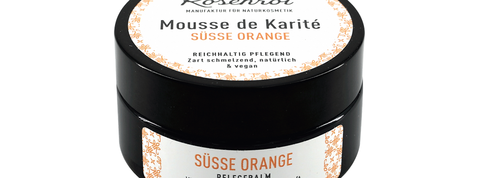 Pflegebalm Mousse de Karité Süße Orange Rosenrot