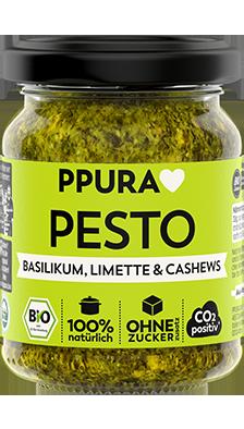 Pesto Basilikum, Limette & Cashews 100% Bio