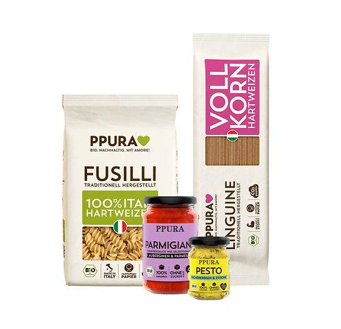 Don Freddo Box, Parmigiana & Pesto Basilikum Limette, Fusilli & Linguine