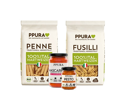 Luisa Box, Mascarpone & Pesto Mediterranes Gemüse & Chili, Penne und Fusilli