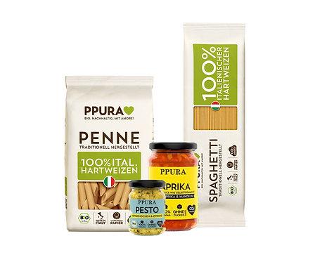 Lina Box, Paprika Tomatensoße & Artischocken Pesto, Penne & Spaghetti