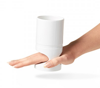 Vitility cup for no-grip hand
