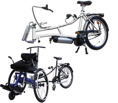 Mounvly tandem bike wheelchair attachment