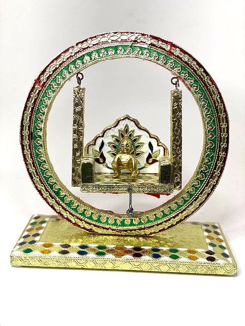 Meenakari Kishna jhula ,laddu gopal jhula ( 26x25x12 cm )