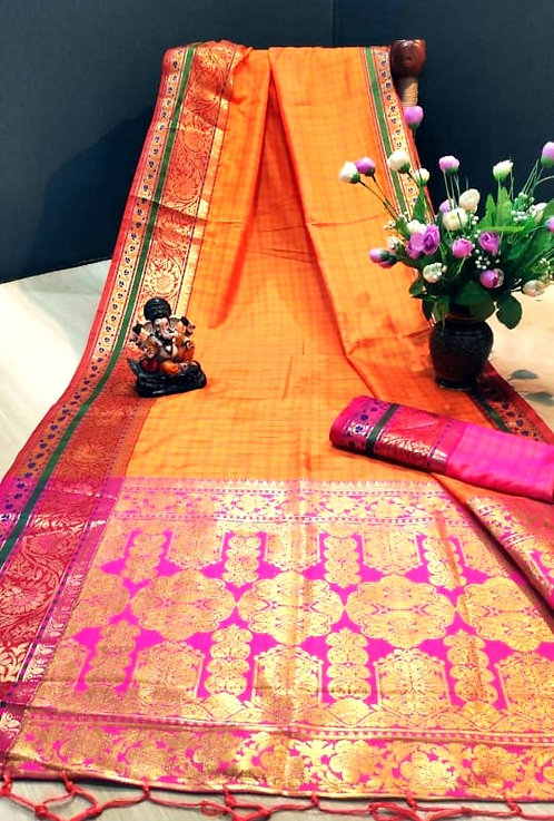 Banarsi Silk Saree ( with blouse )