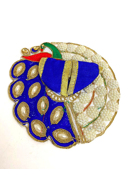 Krishna poshak ( moti heavy work ) ( blue colour )