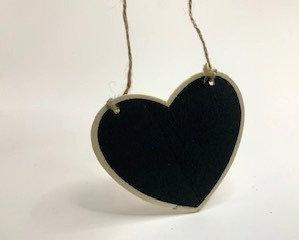 small decorative heart shape black board