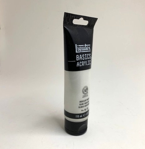 BASICS ACRYLIC COLOUR (iridescent white 118 ml )                  ml )