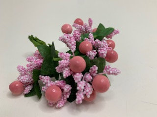 Decorative small pink flower bunch