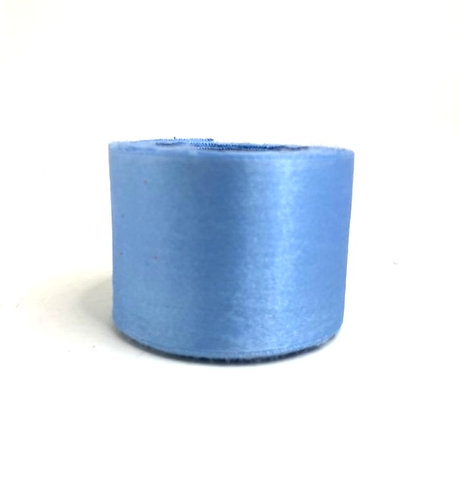Satin Ribbon ( sky blue  colour ) (2 inch thick, 10m length )