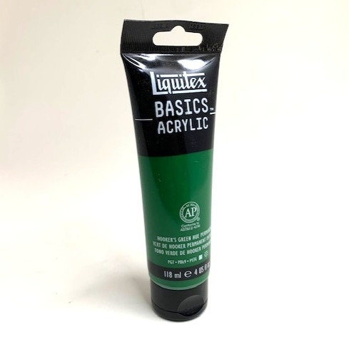 BASICS ACRYLIC COLOUR (phthalocyanine green 118 ml )                  ml )