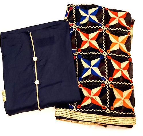 Pure Cotton Dress Material With Phulkari Dupatta