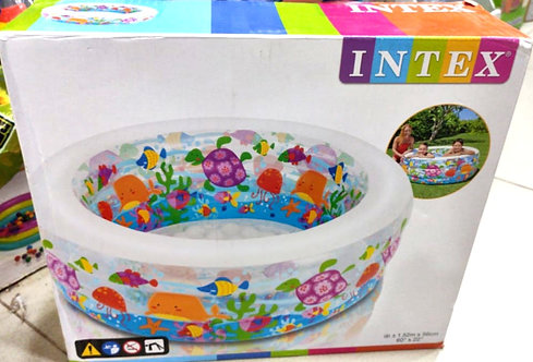 INTEX inflatable snapset pool, multi colour (22 inch , hight 2 fit ) )