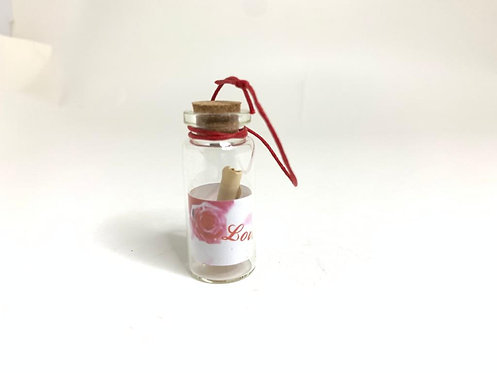 Decorative Glass Message Bottle with mini paper roll