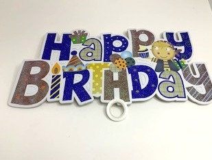 Decorative birthday banners for girls/boys