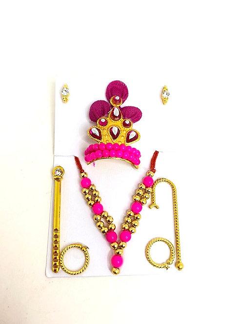 Mukut mala set for krishna ji