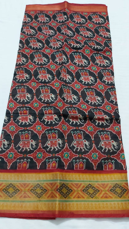 Patola style  pure cotton saree with blose with beatiful border