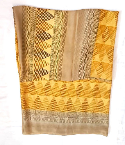 Metal Chiffon Synthetic Saree ( without blouse )