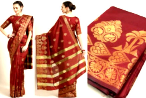 Madhari silk saree with blouse
