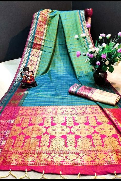 Banarsi Silk Saree ( with blouse )