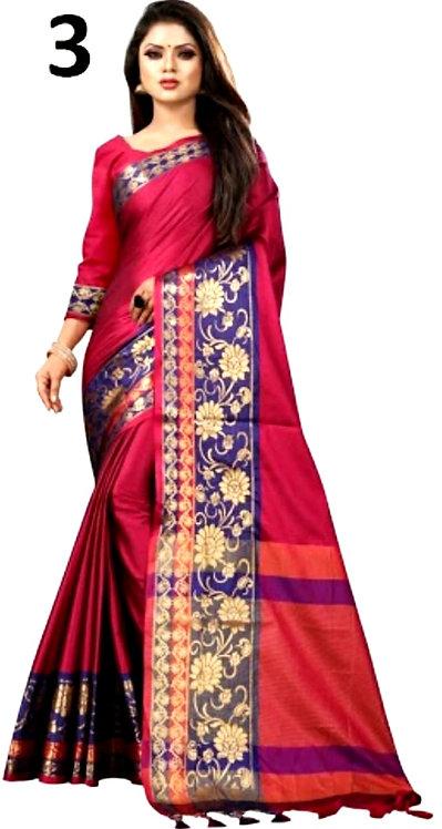 Aura silk saree with blouse