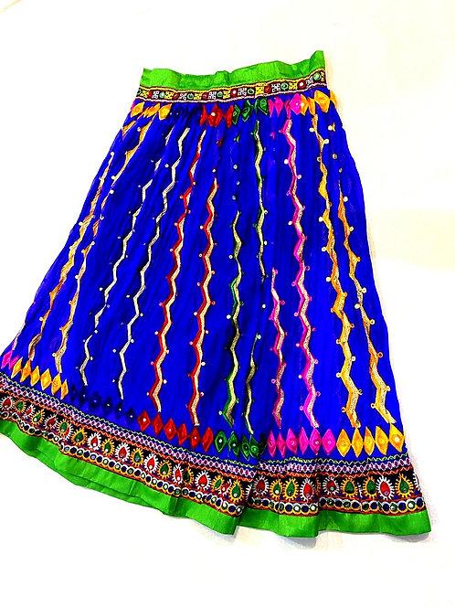 Pure chiffon heavy hand and mirror work skirt