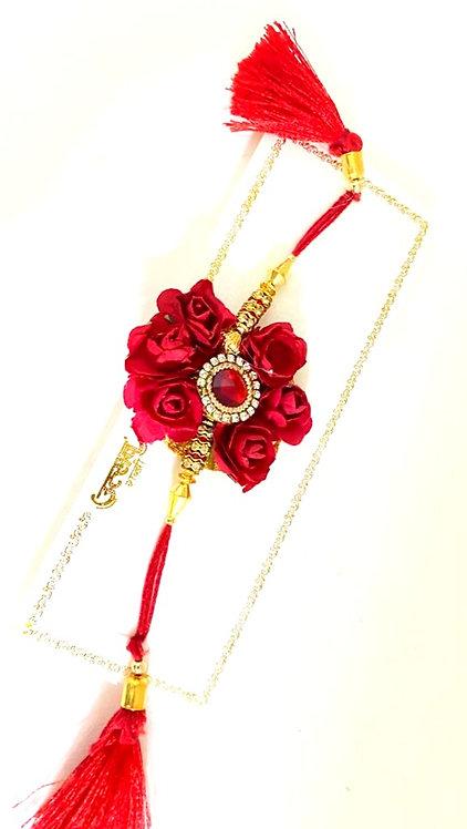 Exclusive special rose floral beautiful designs rakhi