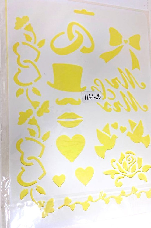 Template Stencil Painting On Cloths & Different Surface (12x8 )