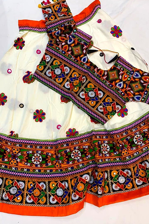 Rayon cloth heavy work,mirror work chaniya choli