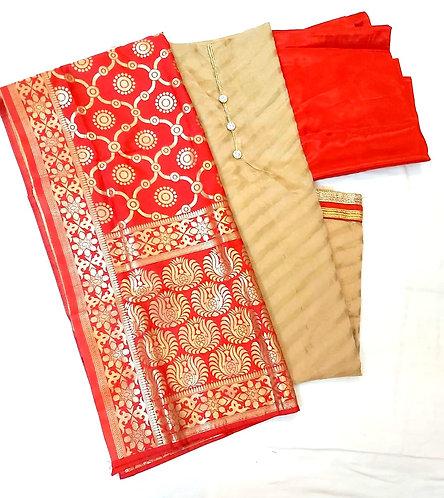 Exclusive Chanderi Silk Dress Material