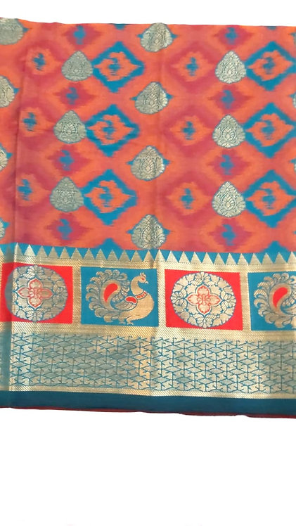 Cotton silk saree ( with blouse )