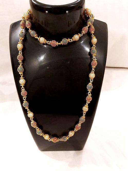 Long colourfull pearl mala for women & girls