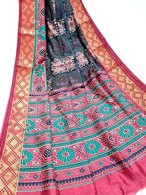 Patola silk ,patola pattern with blouse