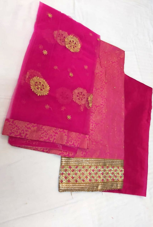 Brocade Fabric With Stone Work Dress Material