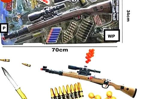 PUBG Theme Gun Toy Set With Sniper Riffle