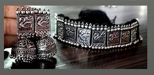 oxidized necklace set  for women