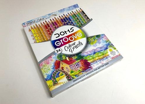 DOMS Groove colour pencils (24 pcs )