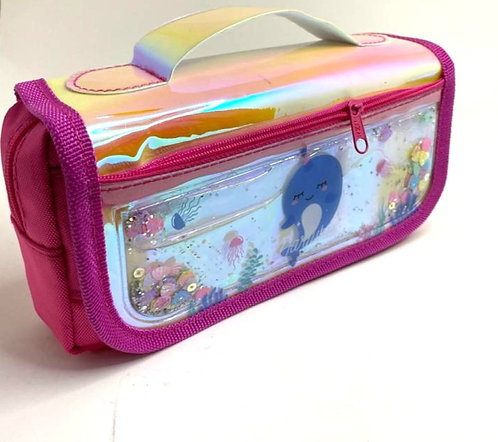 Liquid Filled Sequin Pouch For Girls