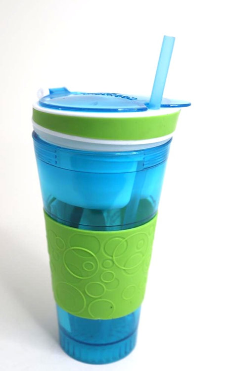 2 IN 1 snack & drink snackeez travel cup in one container